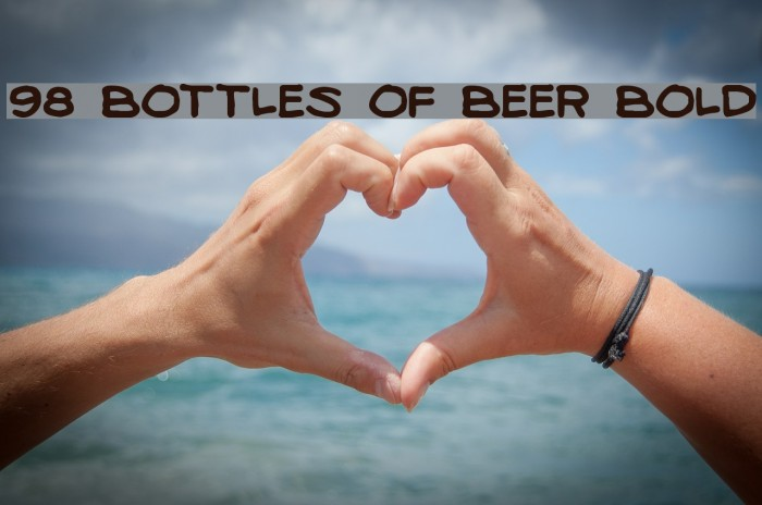 98 Bottles of Beer Bold Fonte examples