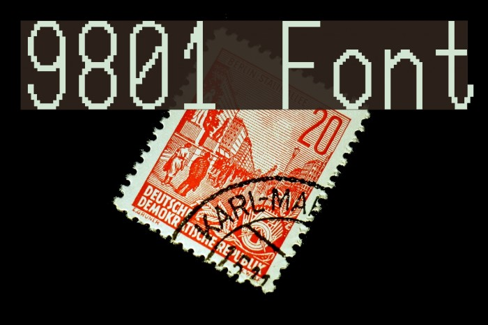 9801 Fonte examples