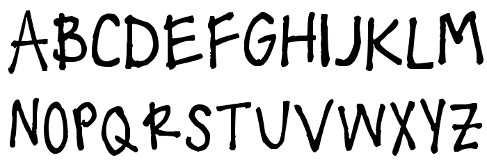 !!! Handwritingg 3 Font UPPERCASE
