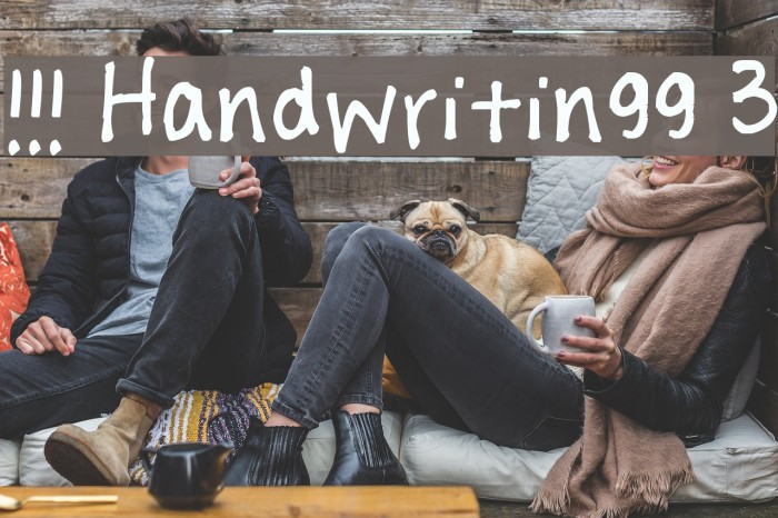 !!! Handwritingg 3 Font examples