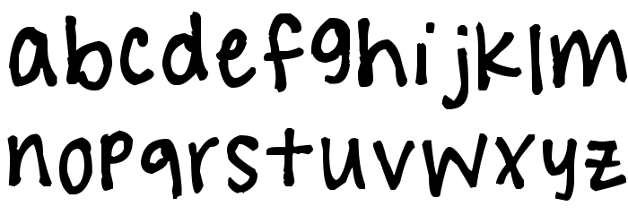 !!! Handwritingg 3 Font LOWERCASE