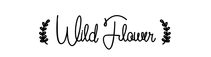 ( Wild Flower )  Free Fonts Download