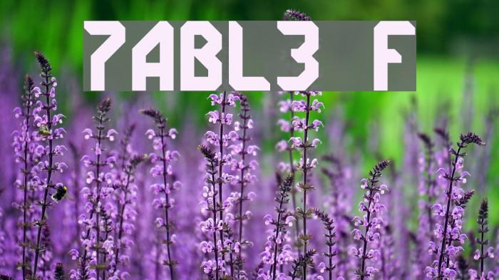 7ABL3 Font examples