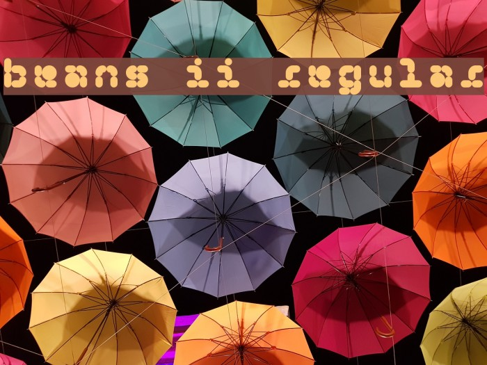 5Beans II Regular फ़ॉन्ट examples