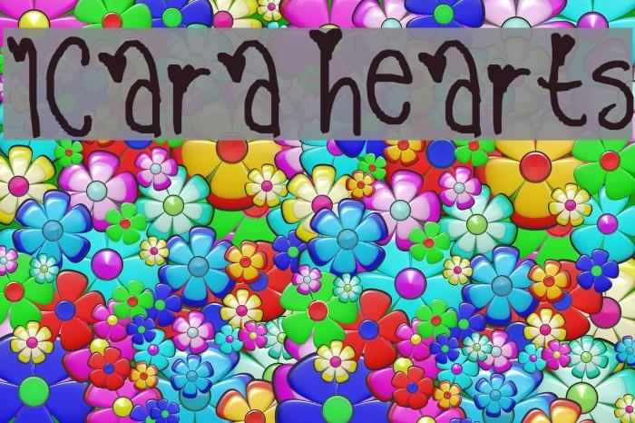 1cara hearts Fonte examples