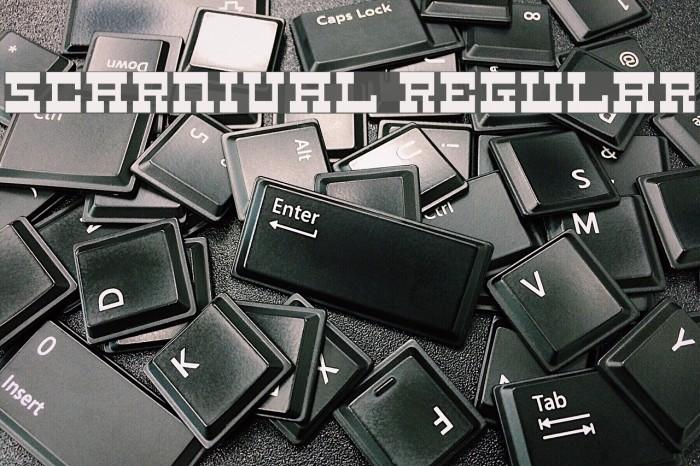 5Carnival Regular फ़ॉन्ट examples