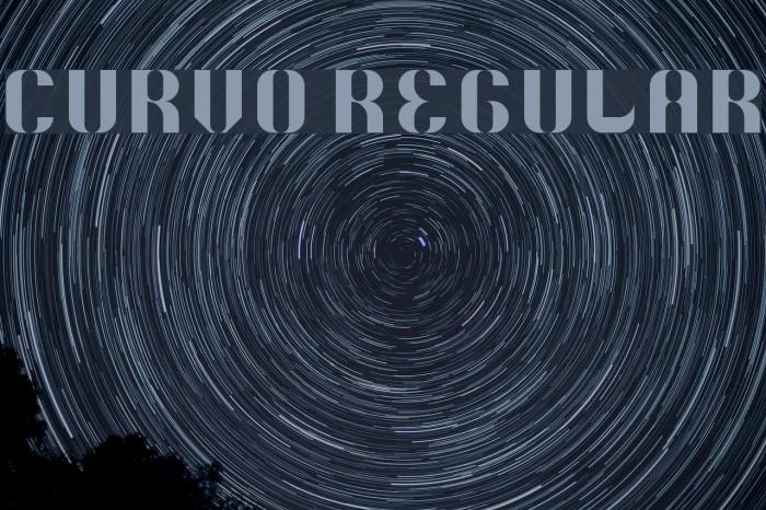 5Curvo Regular फ़ॉन्ट examples