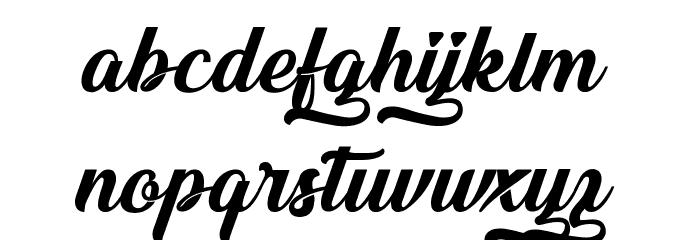 &Championship 1 Schriftart Kleinbuchstaben