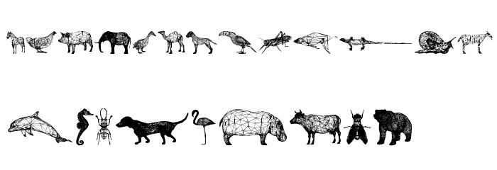 3D Animals Regular Fonte MINÚSCULAS
