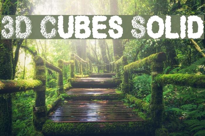 3D Cubes Solid Font examples