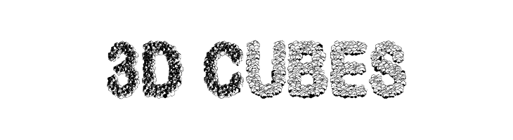 3D Cubes  Free Fonts Download