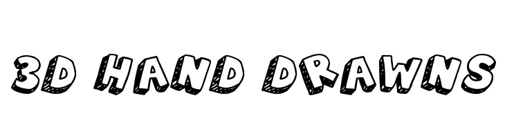 3D Hand Drawns  フリーフォントのダウンロード