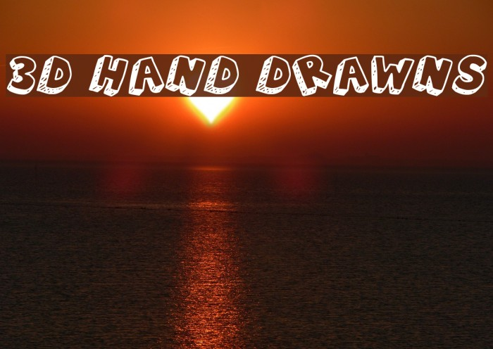 3D Hand Drawns Шрифта examples