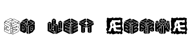 3D LET [BRK]  免费字体下载
