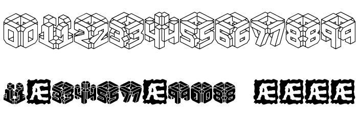 3D LET [BRK] 字体 其它煤焦