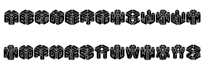 3D LET [BRK] 字体 大写