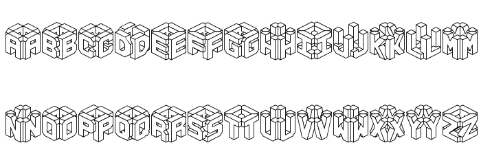 3D LET [BRK] 字体 小写