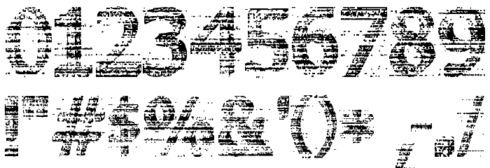 3D Noise Font OTHER CHARS