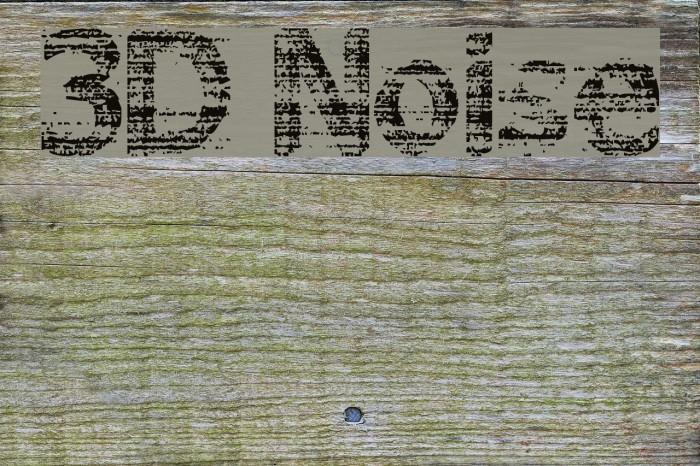 3D Noise Font examples