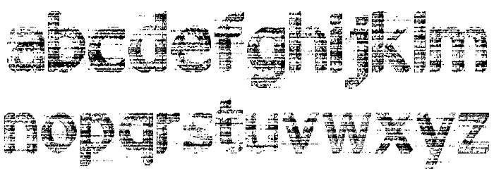 3D Noise Шрифта строчной