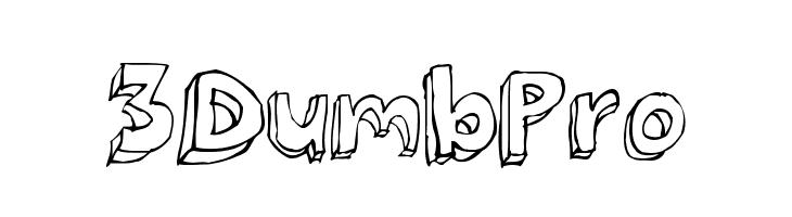 3Dumb Pro  Скачать бесплатные шрифты