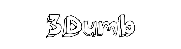 3Dumb  नि: शुल्क फ़ॉन्ट्स डाउनलोड