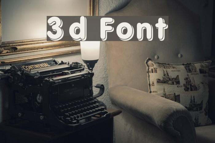 3d Fonte examples