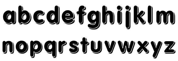 3d Font Litere mici