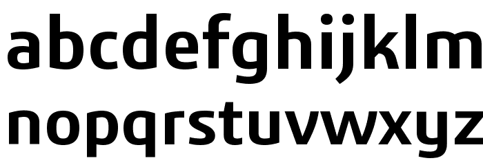 3ds-SemiBold Font LOWERCASE