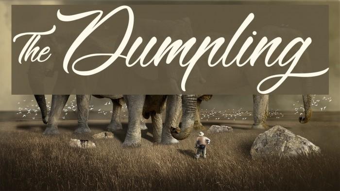 &Dumpling Font examples