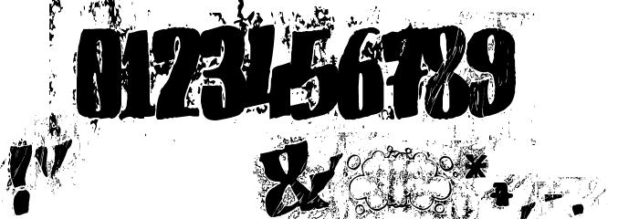 (el&font BLOCK) フォント その他の文字