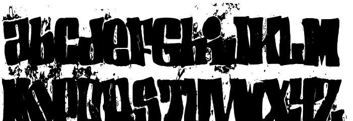 (el&font BLOCK) Font LOWERCASE
