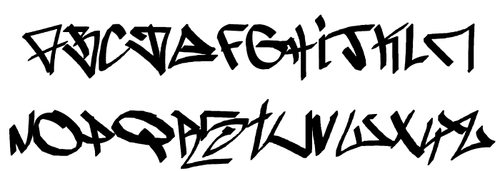 -ghetto-blasterz- フォント 大文字