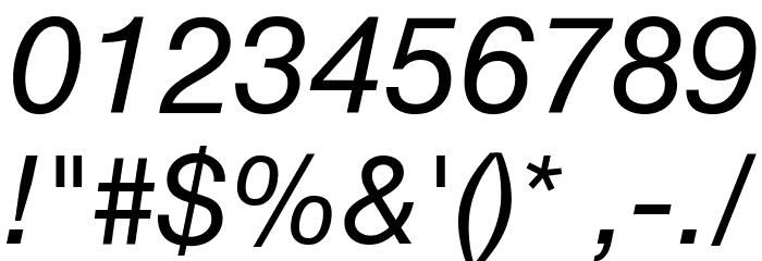 .Helvetica Neue Interface Italic Font Alte caractere