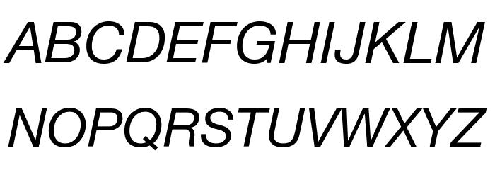 .Helvetica Neue Interface Italic Font Litere mari