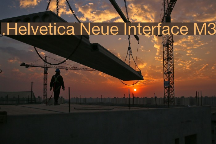 .Helvetica Neue Interface M3 Шрифта examples