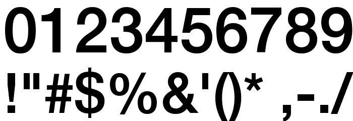 .Helvetica Neue Interface Medium P4 Font OTHER CHARS