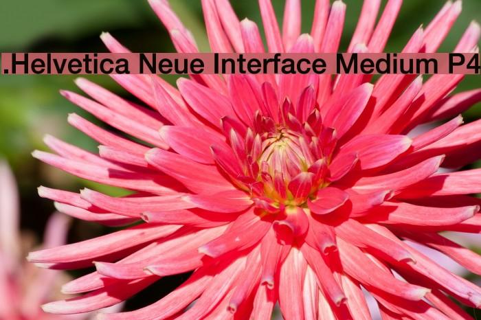 .Helvetica Neue Interface Medium P4 Шрифта examples