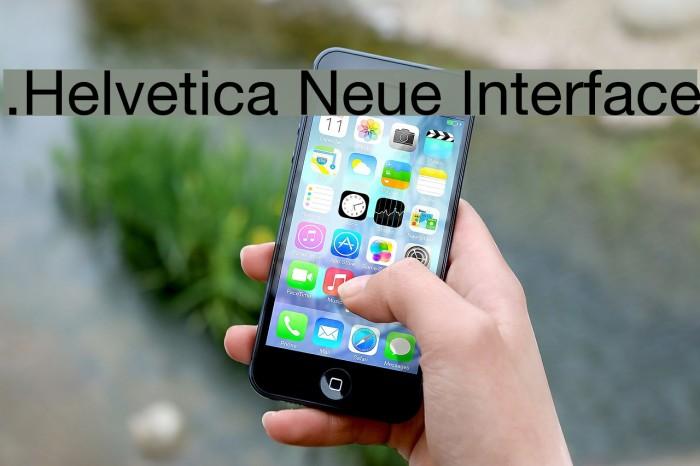 .Helvetica Neue Interface Шрифта examples