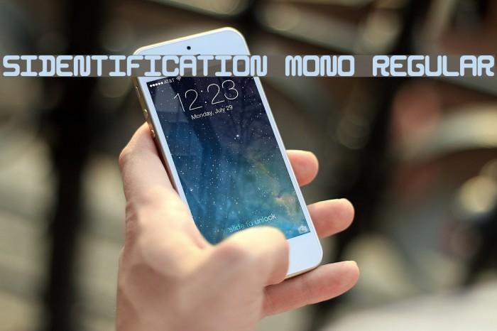 5Identification Mono Regular फ़ॉन्ट examples