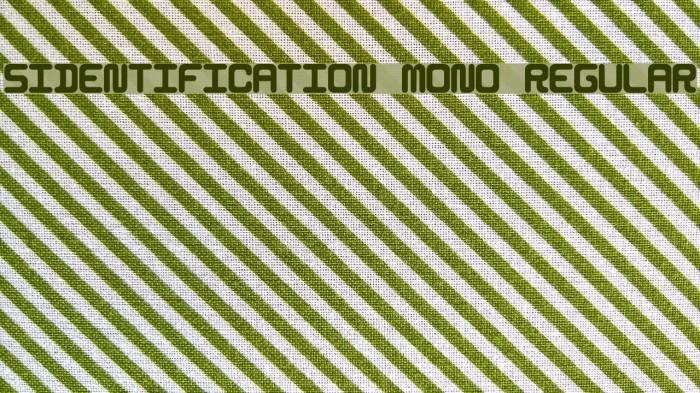 5Identification Mono Regular Font examples