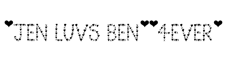 *Jen Luvs Ben*[4ever]  Free Fonts Download