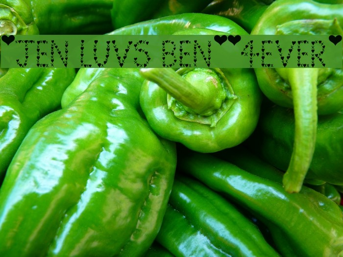 *Jen Luvs Ben*[4ever] フォント examples