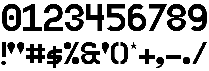 2K4S Regular Шрифта ДРУГИЕ символов
