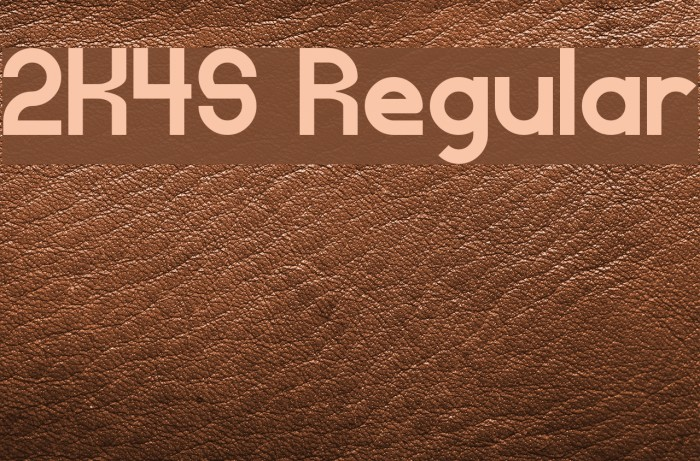 2K4S Regular Шрифта examples