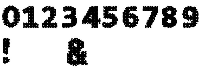 4K&A Шрифта ДРУГИЕ символов