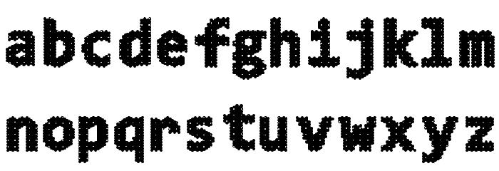 4K&A Шрифта строчной