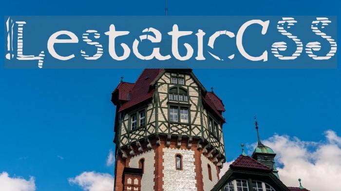 !LestaticCSS Font examples