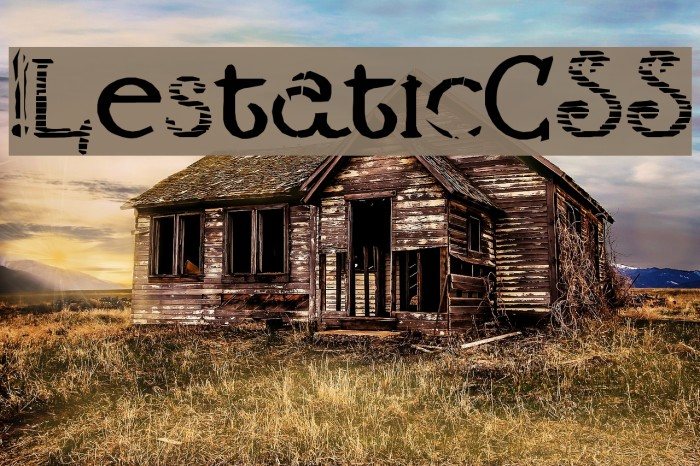 !LestaticCSS फ़ॉन्ट examples