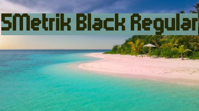 5Metrik Black Regular Font examples